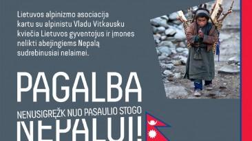 Pagalba Nepalui: renkamos lėšos